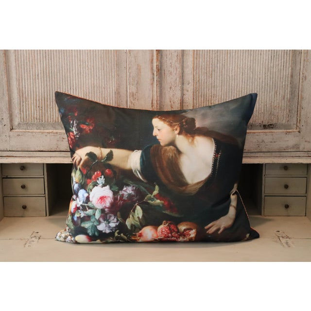 Paris Photo Pillow Italian Painting in the Louvre For Sale - Image 10 of 12