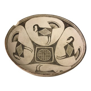 Vintage Museum Reproduction Pottery Decorative Bowl For Sale