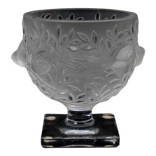 Lalique France Elizabeth Pedestal Footed Bowl For Sale