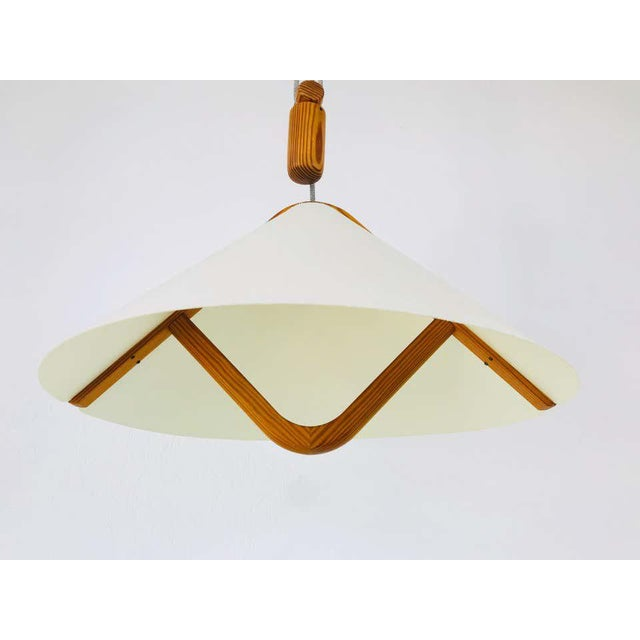 Adjustable Midcentury Wooden Pendant Lamp with Counterweight by Domus, 1960s For Sale - Image 10 of 13