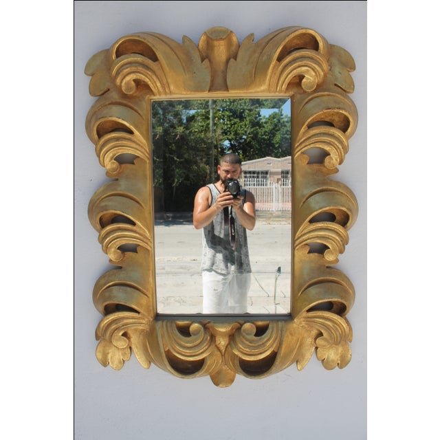 Dorothy Draper-Style Carved Wall Mirror - Image 2 of 11