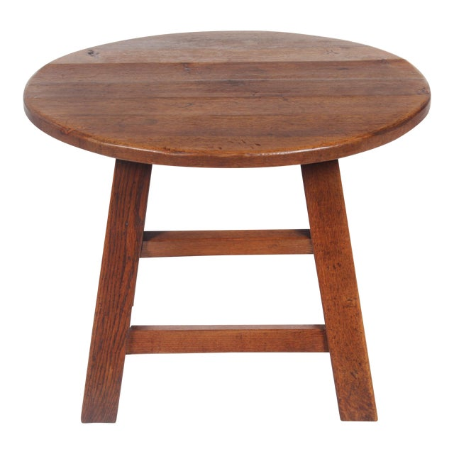 1950s Bavarian-Style Round Coffee Table - Image 1 of 9