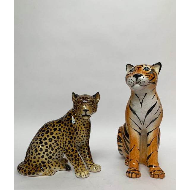 Yellow Manlio Trucco Italian Terra Cotta Large Leopard Figure For Sale - Image 8 of 11