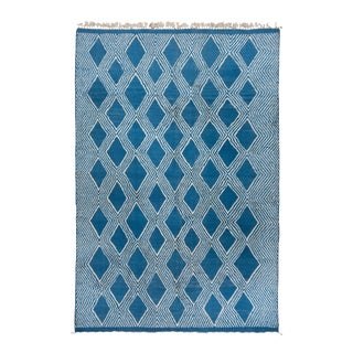 Moroccan Royal Blue Rug-8′10″ × 12′10″ For Sale