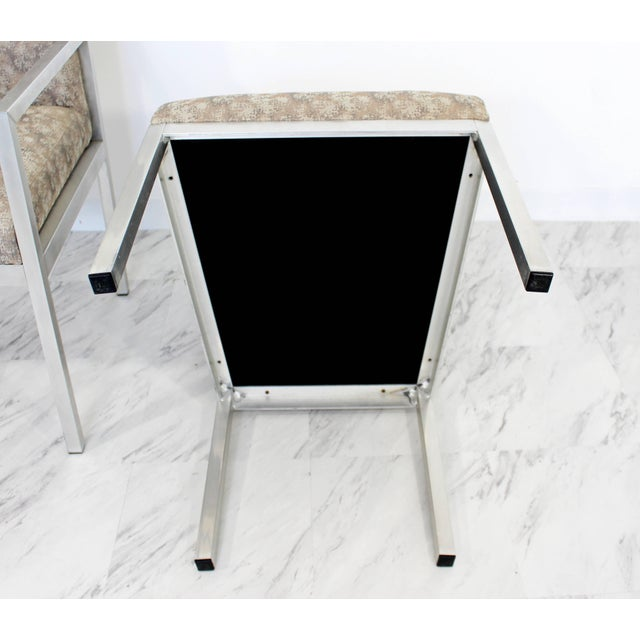Mid-Century Modern Set of Six Milo Baughman for Dia Chrome Dining Chairs For Sale - Image 9 of 10