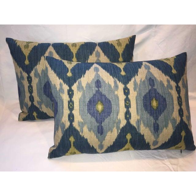 Oscar De La Renta Kublai Ikat Pillows - Pair - Image 2 of 5