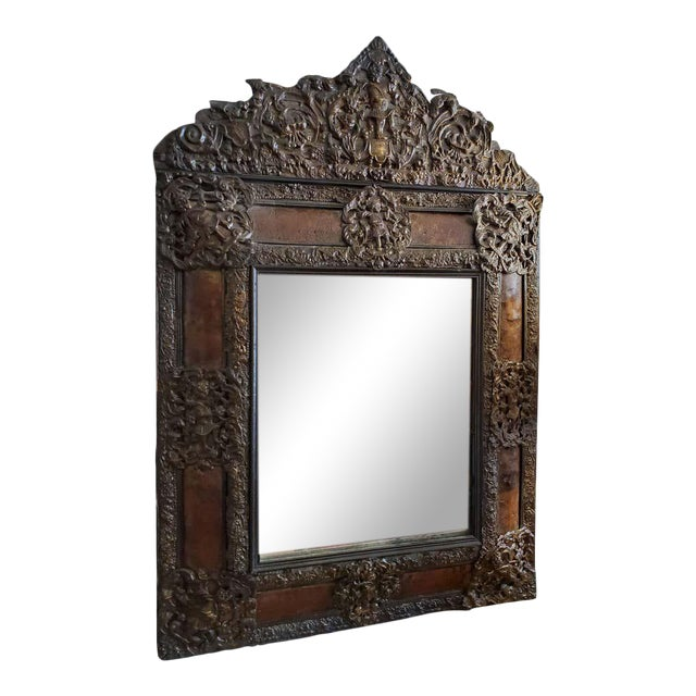 17th Century Cushion Moulded Dutch Mirror For Sale