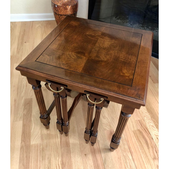 Traditional Gordon's Fine Furniture Nest of Tables - Set of 3 For Sale - Image 9 of 13
