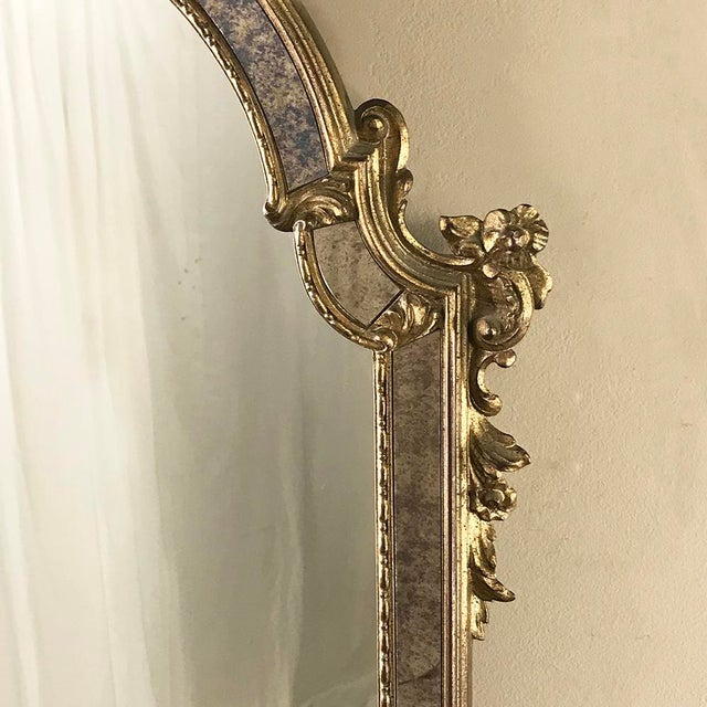 Mid-Century Italian Venetian Gilded Mirror For Sale In Dallas - Image 6 of 13