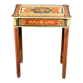19th Century Napoleon Marquetry Gilt Bronze Pear Wood Console For Sale