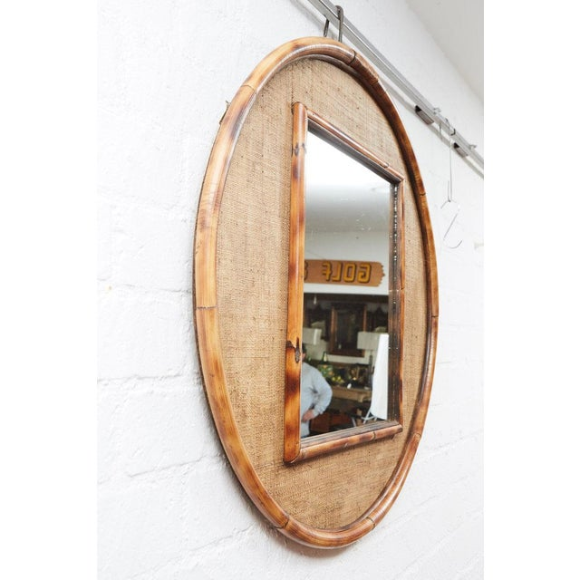 2010s JW Limited Edition Custom Line Bamboo Mirror For Sale - Image 5 of 5