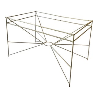 1960s Multi Rod Sculptural Iron Outdoor Table For Sale