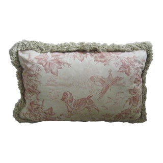 Vintage Fabric Accent Pillow For Sale
