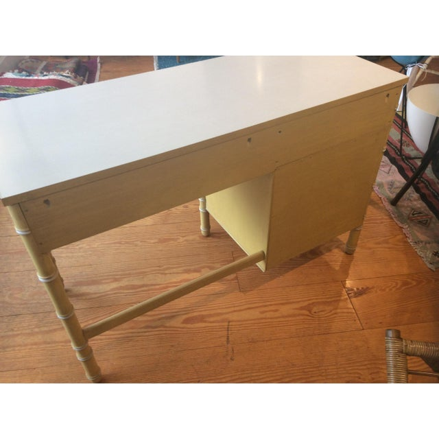Thomasville Vintage Faux Bamboo Desk For Sale In New York - Image 6 of 9