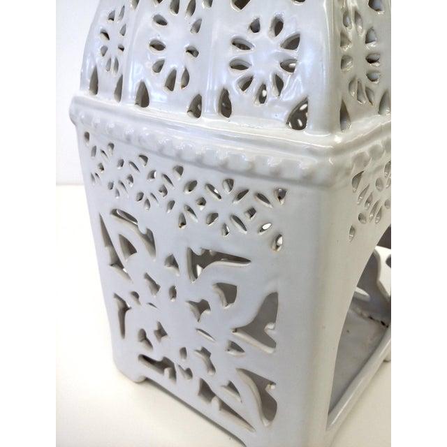 Marrakesh-Style White Ceramic Candleholder - Image 6 of 7