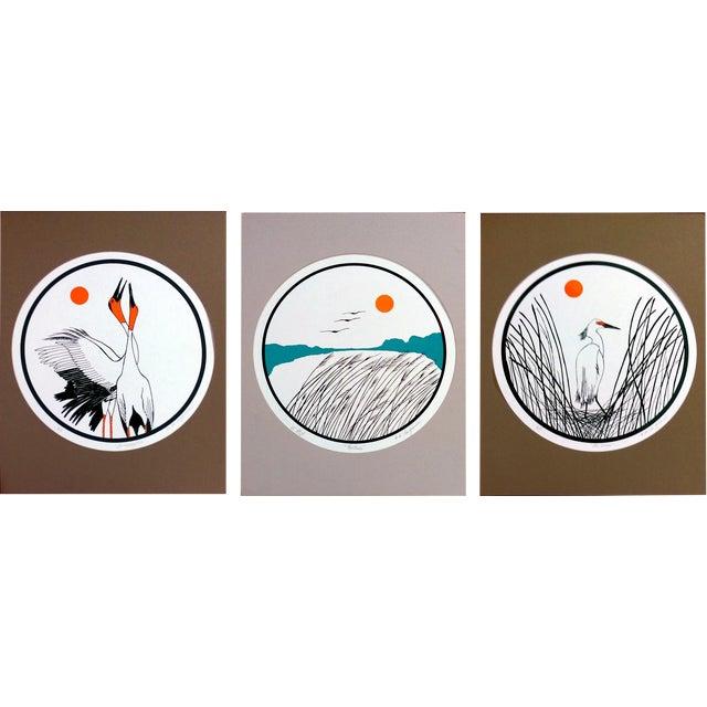 B.B. La Femme Waterbird Artist Proof Serigraphs- S/3 For Sale