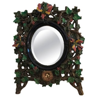 Majolica Mirror by Hugo Lonitz Germany, 19th Century For Sale
