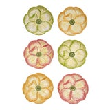 Image of Moda Domus x Chairish Exclusive Dessert Plates in Green, Yellow, and Pink - Set of 6 For Sale