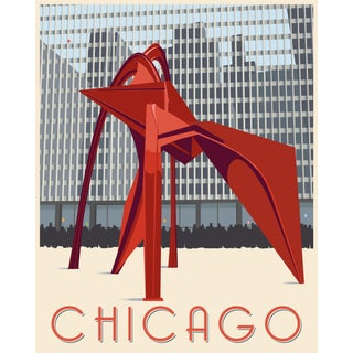 Artist Signed Chicago Poster by Steve Thomas For Sale