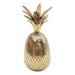 Brass Pineapple Trinket Box For Sale