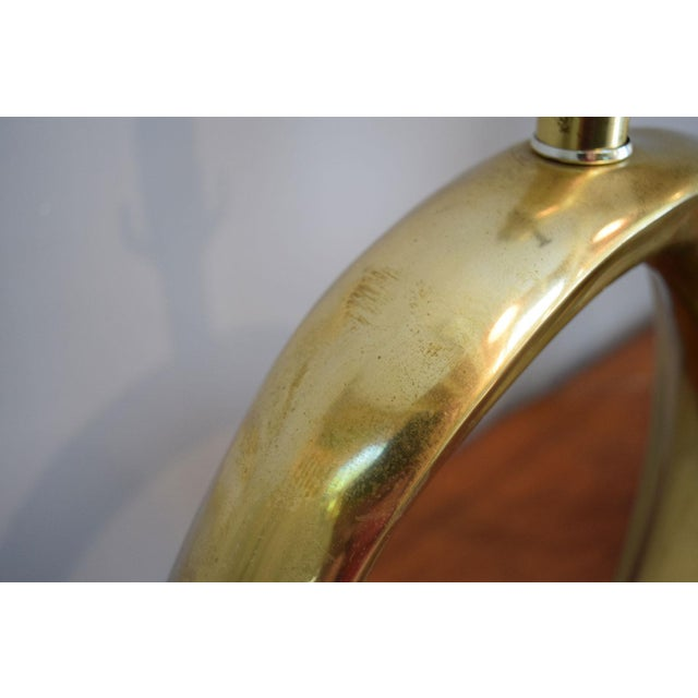 Solid Brass Swoosh 'Pierre Cardin' Lamps by Erwin Lambeth - a Pair For Sale - Image 9 of 12