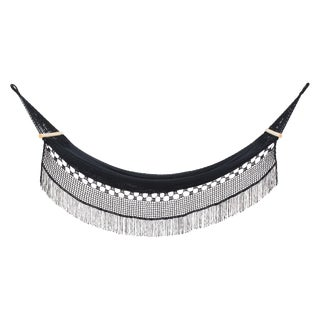 Delmi Hammock in Charcoal Black With Walnut Rods For Sale