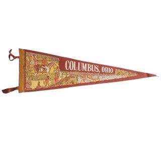 Vintage Columbus, Ohio Felt Flag Pennant For Sale