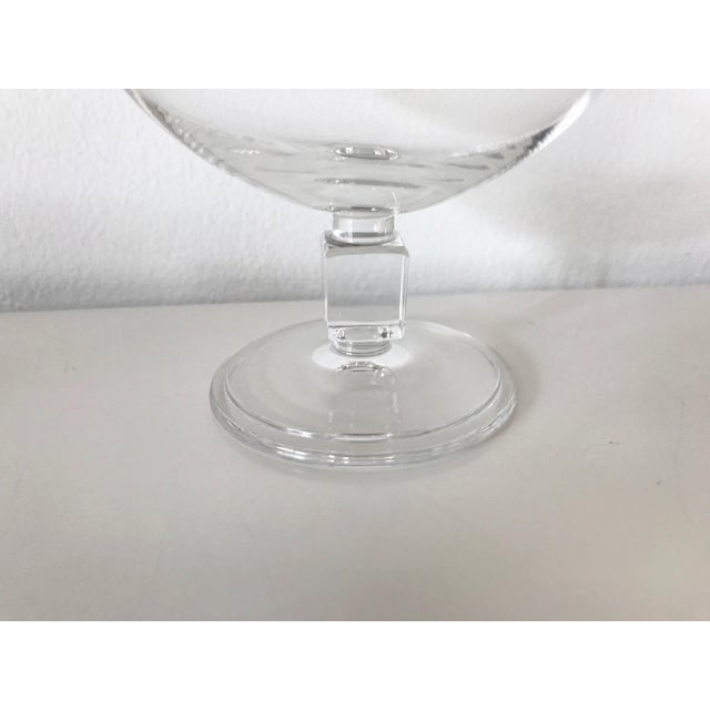 Transparent Vintage Mid-Century Nevel Cube Stem Crystal Coupe Champagne Glasses by Val St. Lambert - Set of 8 For Sale - Image 8 of 10