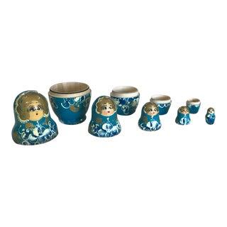 Vintage Russian Nesting Dolls - Set of 5