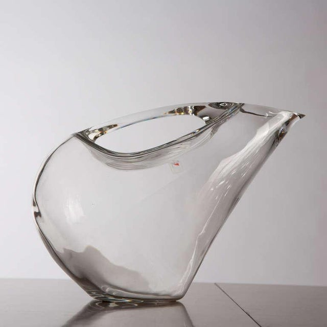 Set of Two Crystal Pitchers by Angelo Mangiarotti For Sale - Image 5 of 10