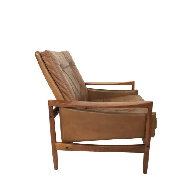 Wood 1960s Vintage Erik Worts Danish Armchair For Sale - Image 7 of 13