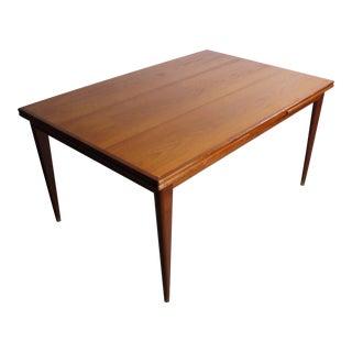 Niels Otto Møller Model 254 Teak Dining Table / Conference Table for J.L. Møllers, Denmark For Sale