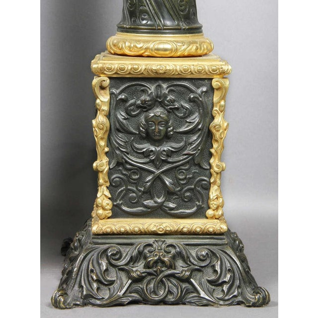 Pair Of Napoleon III Bronze And Ormolu Table Lamps For Sale - Image 4 of 5