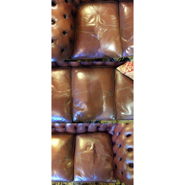 Chocolate English Chesterfield Sofa For Sale - Image 8 of 11