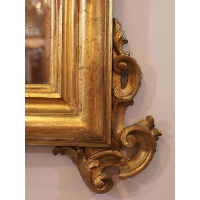 Antique Italian Gilt Wood Mirror - Image 6 of 7
