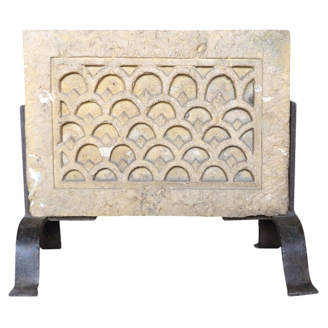 Architectural Carved Stone On Stand For Sale