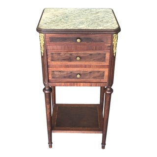 French Marble Ormolu Humidor Table For Sale
