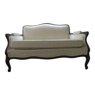 Early 20th Century Edwardian Style Settee French Cottage Sofa For Sale