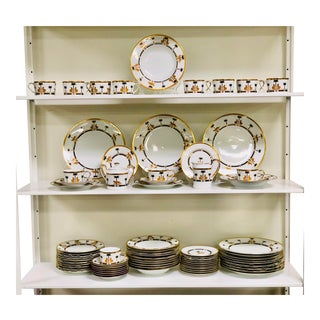 Christian Dior Casablanca China Set of 74 For Sale