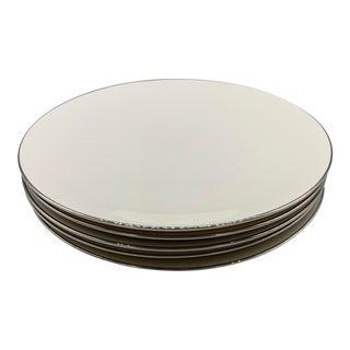 Set of 5 Vintage 1950s Flintridge China's Bellemere Dinner Plates