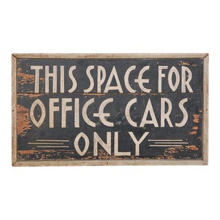 Deco Car Parking Sign For Sale