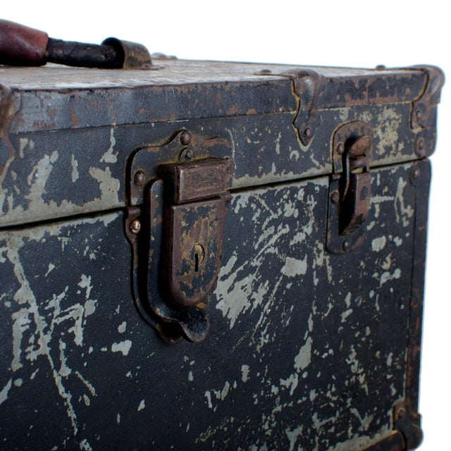 Red Vintage Union Tool Box For Sale - Image 8 of 10