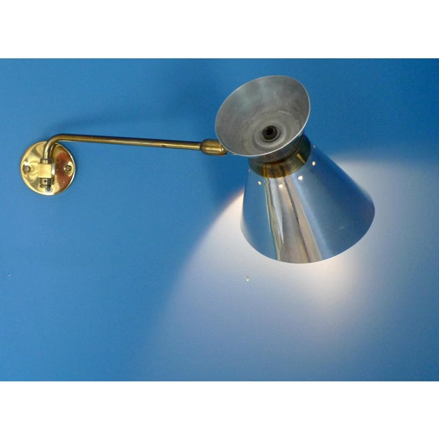 Pierre Guariche Style Adjustable Wall Sconces - A Pair - Image 7 of 9