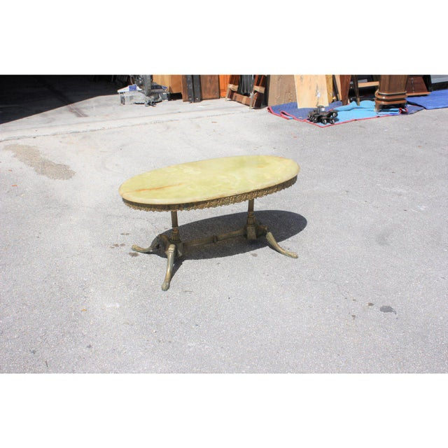 1940s Maison Jansen Art Deco Oval Coffee Table For Sale In Miami - Image 6 of 13