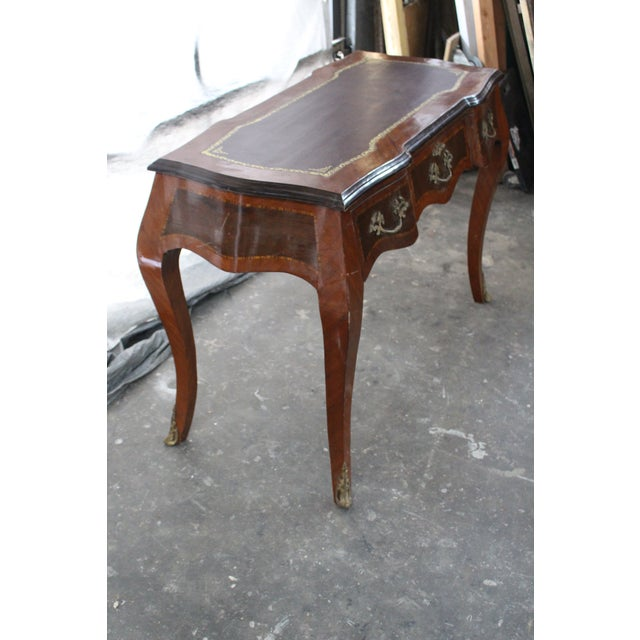 French 19th Century French Inlay Marquetry Writing Desk For Sale - Image 3 of 7