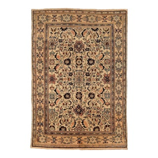 1940s Persian Area Rug Sultanabad Design For Sale