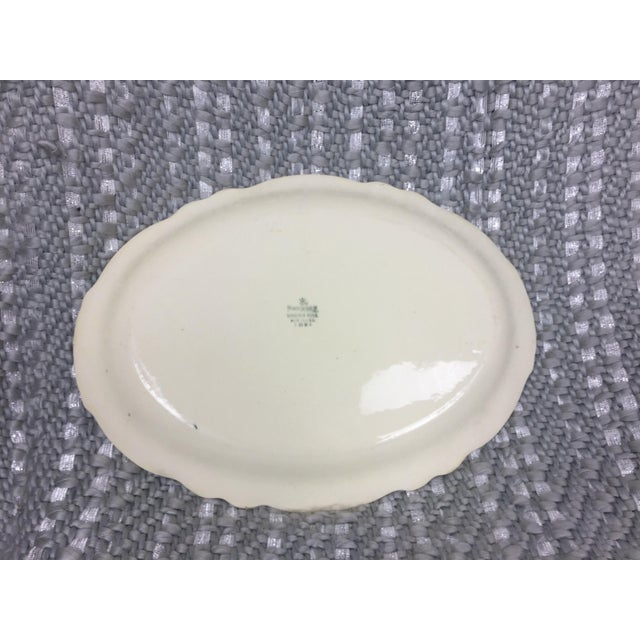 A beautiful cream platter from Home Laughlin with the Virginia Rose pattern. Features platinum floral trim at the edges of...