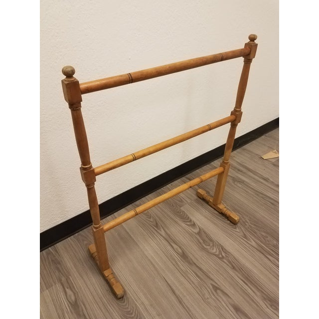 Antique English Pine Quilt or Towel Stand For Sale - Image 13 of 13