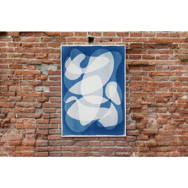 Blue 2020 Contemporary Abstract Cyanotype Cutout by Kind of Cyan For Sale - Image 8 of 11