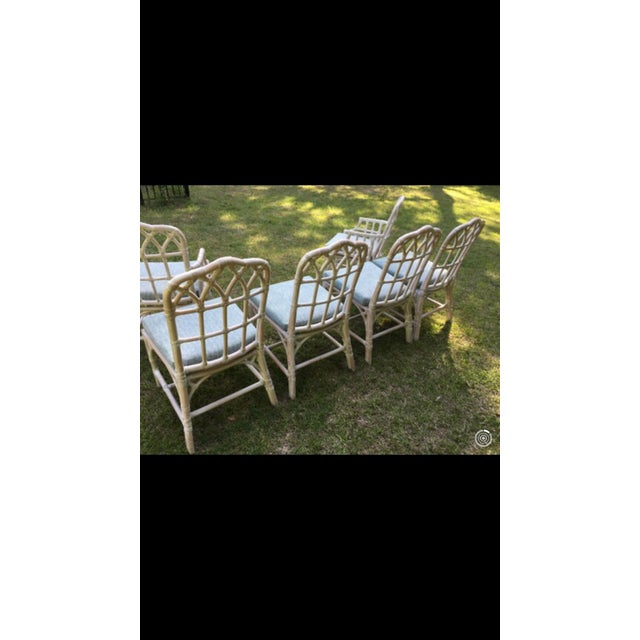 McGuire Bamboo Chinese Chippendale Chairs - Set of 6 For Sale - Image 10 of 13